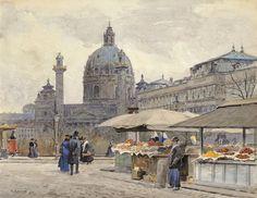 Ernst Graner Vienna, Taj Mahal, Building, Travel, Painting, Art, Art Background, Viajes, Buildings