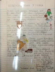7th grader Rylee-freshly back from October break--submitted this Disneyland-inspired Mr. Stick page for her notebook!  Check out all my Mr. Stick resources online at: http://corbettharrison.com/Mr_Stick.html