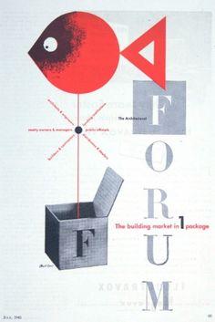 Architectural Forum by Paul Rand #graphicdesign #design #paulrand repinned by Awake — designedbyawake.com