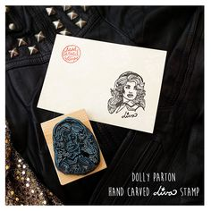 Diva Dolly. Hand carved rubber stamp by HandCarvedStamps on Etsy
