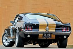 1968 Ford Mustang GT Fastback #mustangclassiccars