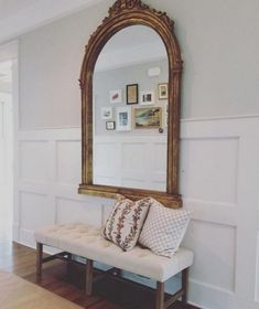 If you have a foyer in your home, this is usually the main entryway to your home. You can greet your guests with a warm welcome when you learn to decorate your foyer properly. Wainscoting Nursery, Dining Room Wainscoting, Wainscoting Ideas, Black Wainscoting, Wainscoting Stairs, Entryway Mirror, Entryway Decor, Entry Hallway, Entryway Ideas