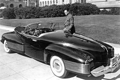 Harvey Earl, designer automobile qui marqua son époque en oeuvre chez General Motors à côté de son oevure, la Buick Y Job de 1938