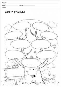 50 Atividades sobre Família para Imprimir - Educação Infantil e Maternal - Online Cursos Gratuitos Spanish Lesson Plans, Spanish Lessons, Family Tree Worksheet, Disney Classroom, Islam For Kids, Family Crafts, Animal Coloring Pages, Graphic Organizers, School Projects