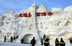 Harbin China International Ice and Snow festival: Giant Snow Sculptures
