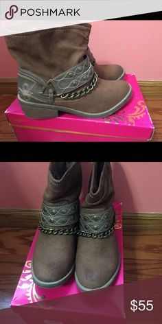 Candies Brand short cowboy boots Candies brand, short cowboy boots. Worn a couple times. Fit comfortably Candie's Shoes Ankle Boots & Booties