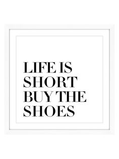 Buy the Shoes (Framed Print) by Marmont Hill at Gilt