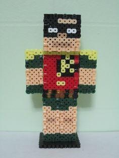 Robin Minecraft Skin 3D_Perler Beads
