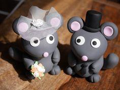 Tortenfiguren Hochzeit Mäuse - personalisierbar