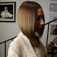 Cute angled bob haircut
