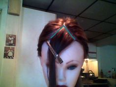 cutting your own side sweep bangs, tried it, it worked great! Wedge Hairstyles, Fringe Hairstyles, Hairstyles With Bangs, Messy Hairstyles, Ladies Hairstyles, Everyday Hairstyles, Wedding Hairstyles, Updos Hairstyle, Brunette Hairstyles