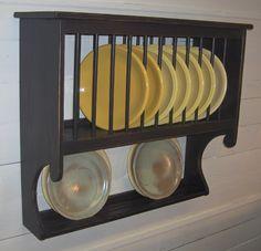 Country Primitive Colonial Plate Rack. $125.00, via Etsy.