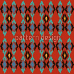 Tribal Dance Fire by Nina May for Pattern Design Shop