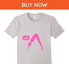 Mens Just Say No to Down Dog Yoga Pose Novilty T-Shirt Medium Silver - Animal shirts (*Amazon Partner-Link)