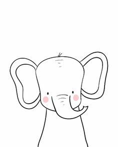 Art Wall Kids, Nursery Wall Art, Art For Kids, Kids Room Art, Doodle Drawings, Doodle Art, Cute Drawings, Baby Animal Drawings, Simple Animal Drawings