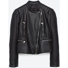 LEATHER EFFECT JACKET - View all-OUTERWEAR-WOMAN | ZARA United States ($70) ❤ liked on Polyvore featuring outerwear, jackets, 100 leather jacket, real leather jackets, piel leather, genuine leather jackets and leather jackets