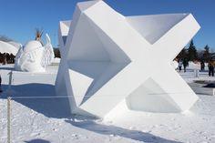Snow sculptures at Festival Park, Festival du Voyageur, Winnipeg, MB 2014