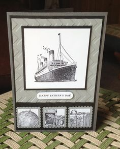 Stampin Up UK Demonstrator Zoe Tant blog: Stampin' Up! UK Traveler Very similar to a card I first saw on pinterest.