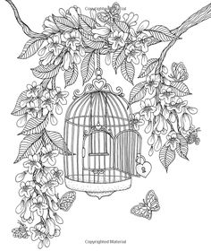 "Twilight Garden Coloring Book: Published in Sweden as ""Blomstermandala"" Adult Coloring Book Pages, Printable Adult Coloring Pages, Animal Coloring Pages, Coloring Pages To Print, Colouring Pages, Coloring Sheets, Coloring Books, Fairy Coloring, Digital Stamps"