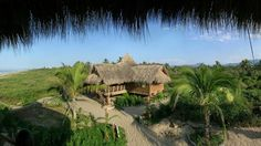 A panoramic view of a private casita at Playa Viva, a luxurious eco-resort located near Zihuatanejo in Guerrero on the Pacific Coast of Mexico. (Courtesy of Playa Viva)