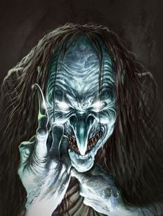 Another witch, Black Annis is the British equivalent of the Russian With Baba Yaga. Mythological Creatures, Fantasy Creatures, Mythical Creatures, Mythological Monsters, Dark Creatures, Baba Yaga, Dark Fantasy, Fantasy Art, Portraits Illustrés