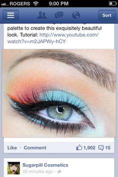 Sexy crazy cool eye makeup