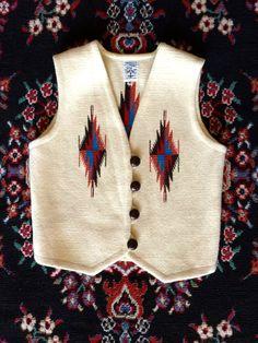Rare Ortega's Chimayo Wool Hand Woven Vest/ by HandmadeDropsOfDew