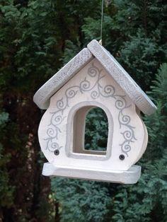 Wunderbar Deko Vogelhaus aus Holz Shappy Weiß Vogelhäuschen Futterhaus