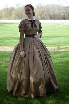 "From ""Stitches of the Past"" blog, appears to be based on CDV photo, seamstress altered armhole and side seams"