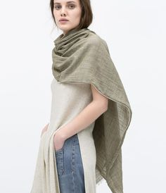 Image 2 of COTTON SCARF from Zara