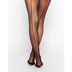 JA2 Tights With Back Seam ($9) ❤ liked on Polyvore featuring intimates, hosiery, tights, black, jonathan aston tights, sheer black pantyhose, black tights, sheer tights and sheer black stockings