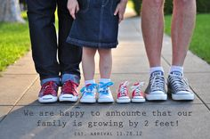 My baby announcement!  we are happy to announce that our family is growing by 2 feet