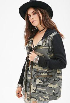 Camo Utility Jacket | Forever 21 - 2000136170