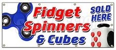 This Fidget Spinner & Cube Banner is a great way to advertise your buisness This banner is made from heavy duty 13oz. outdoor vinyl and our inks are rated for 5+years of outdoor use and a lifetime of indoor use, Every SignMission Banner features a High-Definition image and a glossy sheen... more details available at https://perfect-gifts.bestselleroutlets.com/gifts-for-teens/toys-games-gifts-for-teens/product-review-for-36x96-fidget-spinner-cube-banner-sign-tri-spinner-ed