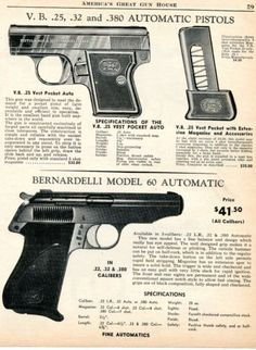 1960-Print-Ad-of-VB-Bernardelli-25-Vest-Pocket-Auto-Pistol-amp-Model-60-Automatic