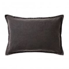 Home Republic Vintage Wash Linen Cushion Charcoal, cushion, cushion cover