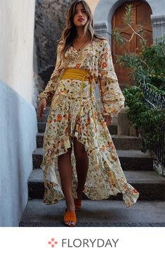 Shop Floryday for affordable Dresses. Floryday offers latest ladies' Dresses collections to fit every occasion. Boho Outfits, Dress Outfits, Casual Dresses, Moda Floral, Vestido Casual, Affordable Dresses, Long Sleeve Maxi, Spring Dresses, Buy Dress