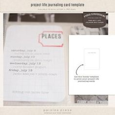 how to print on journaling cards by melva