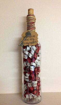 "Unique and Custom ""50 Things I Love About You"" Message in a Bottle for your loved one!"