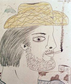Man with yellow hat by Francisco Vidal
