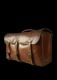 Vintage French leather bag.
