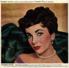 1952 evening eye shadow worn by Elizabeth Taylor