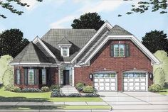 Cottage House Plan with 2852 Square Feet and 3 Bedrooms from Dream Home Source   House Plan Code DHSW50534 put dining area in octagonal area