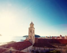 dubrovnik croatia landscape photography travel blue decor blue wall art adriatic seaarchitecture View to the Sea D16 by eireanneilis