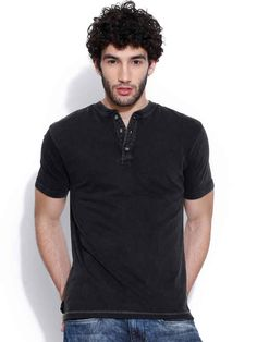 Dream of Glory Inc. Black Henley T-shirt