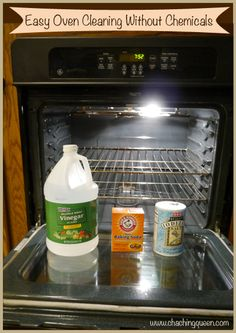 Diy Cleaners 447897125440365817 - Here's an easy way to clean your oven without chemicals. Get items for non-toxic oven cleaning and directions to clean an oven without chemicals: Source by liz_kingsangste Household Cleaning Tips, Deep Cleaning Tips, Toilet Cleaning, Cleaning Recipes, Green Cleaning, House Cleaning Tips, Natural Cleaning Products, Cleaning Solutions, Household Cleaners
