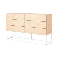 Balmain 6 Drawer Dresser  American White Oak