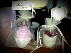 Wedding favours at Www.divaapothecary.co.uk