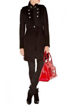 a6e8c4788e5 Karen Millen Mixed Fabric Wool Coat,When hunting for a Karen Millen sale,  http