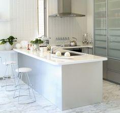 Modern Small Breakfast Bar White Cushioned Metal Bar Stool White ...  Minimalistic KitchenBar DesignsKitchen ...